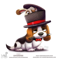 Daily Paint 1909# Houndini by Cryptid-Creations