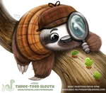 Daily Paint 1910# Three-Toed Sleuth