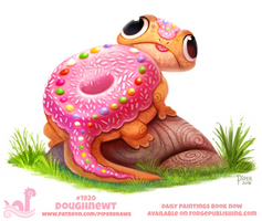 Daily Paint 1920# Doughnewt by Cryptid-Creations