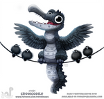 Daily Paint 1921# Crowcodile