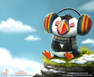 Daily Paint 1923# Earpuffs by Cryptid-Creations