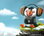 Daily Paint 1923# Earpuffs