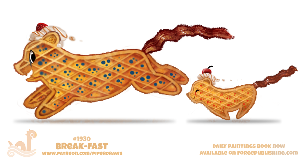 Daily Paint 1930# Break-fast by Cryptid-Creations