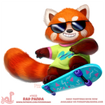 Daily Paint 1933# Rad Panda