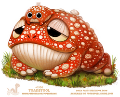 Daily Paint 1936# Toadstool