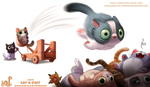 Daily Paint 1941# Cat-a-pult