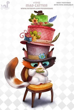 Daily Paint 1945# Mad Catter