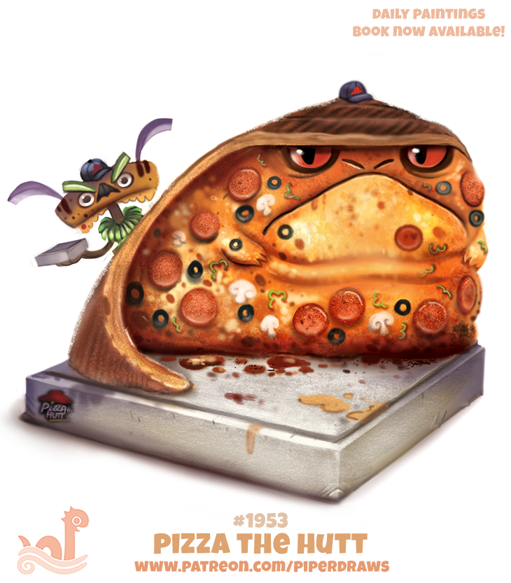 Daily Paint 1953 Pizza The Hutt By Cryptid Creations On