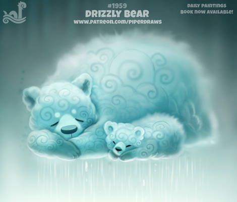 Daily Paint 1959# Drizzly Bear