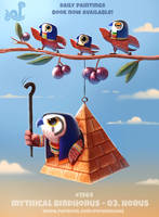 Daily Paint 1964# Mythical Birdhorus - Horus