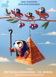 Daily Paint 1964# Mythical Birdhorus - Horus by Cryptid-Creations
