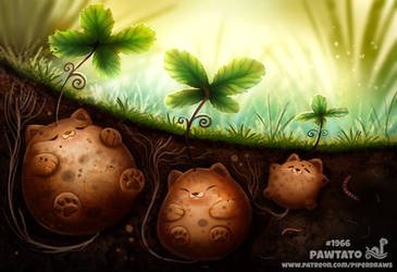 Daily Paint 1966# Pawtato by Cryptid-Creations