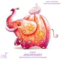 Daily Paint 1967# Jellophant by Cryptid-Creations