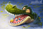 Daily Paint 1968# Bird Dentist