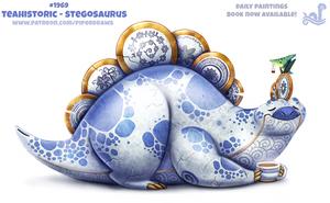 Daily Paint 1969# Teahistoric - Stegosaurus