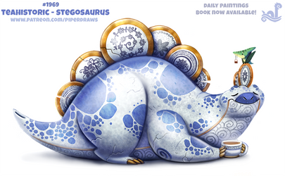 Daily Paint 1969# Teahistoric - Stegosaurus by Cryptid-Creations