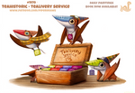Daily Paint 1970# Teahistoric - Tealivery