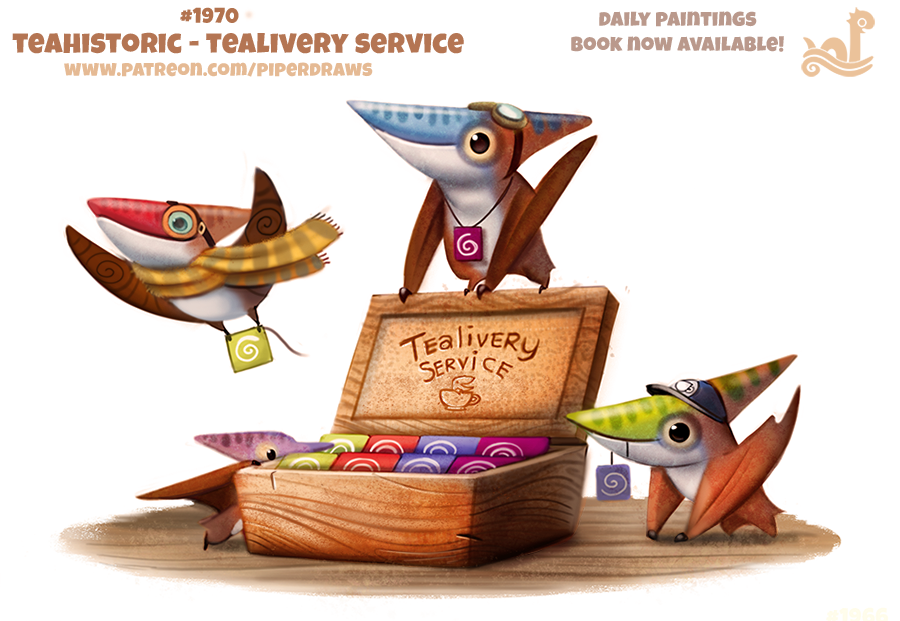 Daily Paint 1970# Teahistoric - Tealivery by Cryptid-Creations