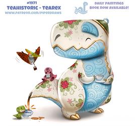 Daily Paint 1971# Teahistoric - Tearex