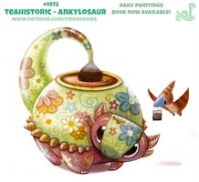 Daily Paint 1972# Teahistoric - Ankylosaur