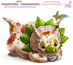Daily Paint 1973# Teahistoric - Teaceratops