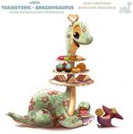 Daily Paint 1974# Teahistoric - Brachiosaurus