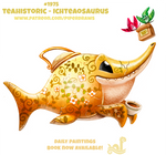 Daily Paint 1975# Teahistoric - Ichteaosaurus