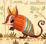 Daily Paint 1982# Aztec Armadillo