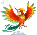 Daily Paint 1983# Aztec Macaw