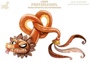 Daily Paint 1984# Pretzelcoatl by Cryptid-Creations