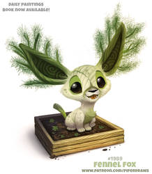 Daily Paint 1990# Fennel Fox by Cryptid-Creations