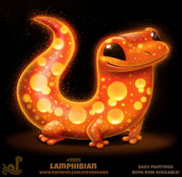 Daily Paint 1991# Lamphibian by Cryptid-Creations