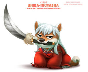Daily Paint 1992# Shiba Inuyasha by Cryptid-Creations