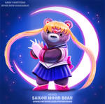 Daily Paint 1993# Sailor Moon Bear