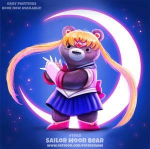 Daily Paint 1993# Sailor Moon Bear