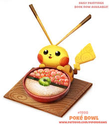 Daily Paint 1998# Poke Bowl by Cryptid-Creations