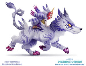 Daily Paint 1999# Digimononoke