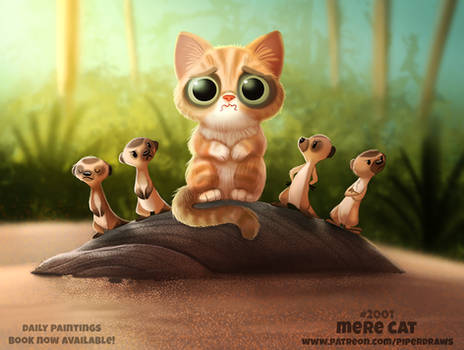 Daily Paint 2001# Mere Cat