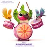 Daily Paint 2003# Drummingbird