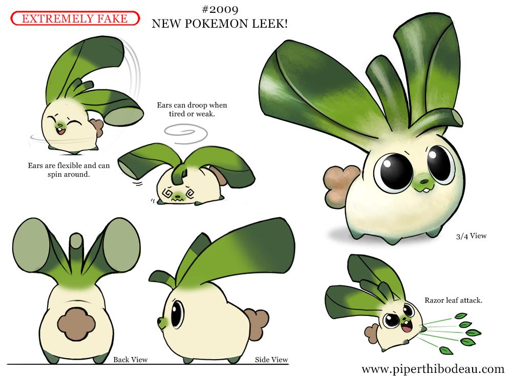 Daily Paint 2009# New Pokemon Leek!