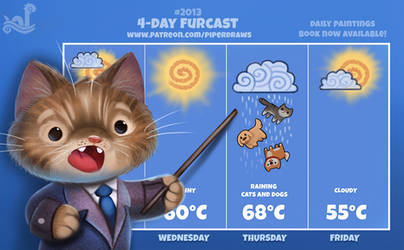 Daily Paint 2013# 4-Day Furcast by Cryptid-Creations