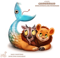 Daily Paint 2015# Chimermaid