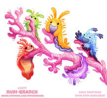 Daily Paint 2017# Nudi-branch by Cryptid-Creations