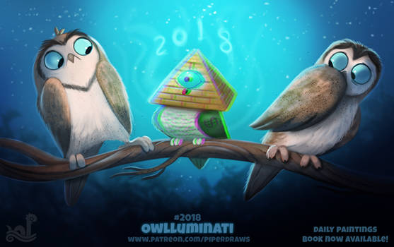 Daily Paint 2018# Owlluminati
