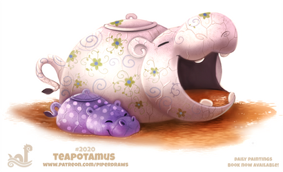 Daily Paint 2020# Teapotamus by Cryptid-Creations
