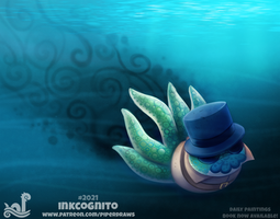 Daily Paint 2021# Inkcognito by Cryptid-Creations