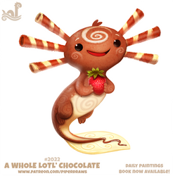 Daily Paint 2022# A Whole Lotl' Chococlate