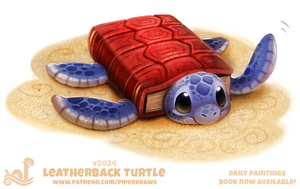 Daily Paint 2024# Leatherback Turtle