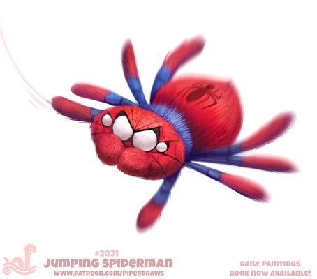 Daily Paint 2031# Jumping Spiderman