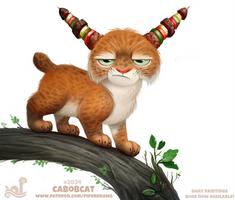 Daily Paint 2034# Cabobcat